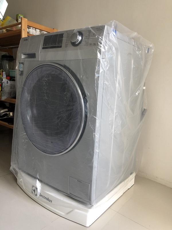 ถุงพลาสติกคลุมเครื่องซักผ้า