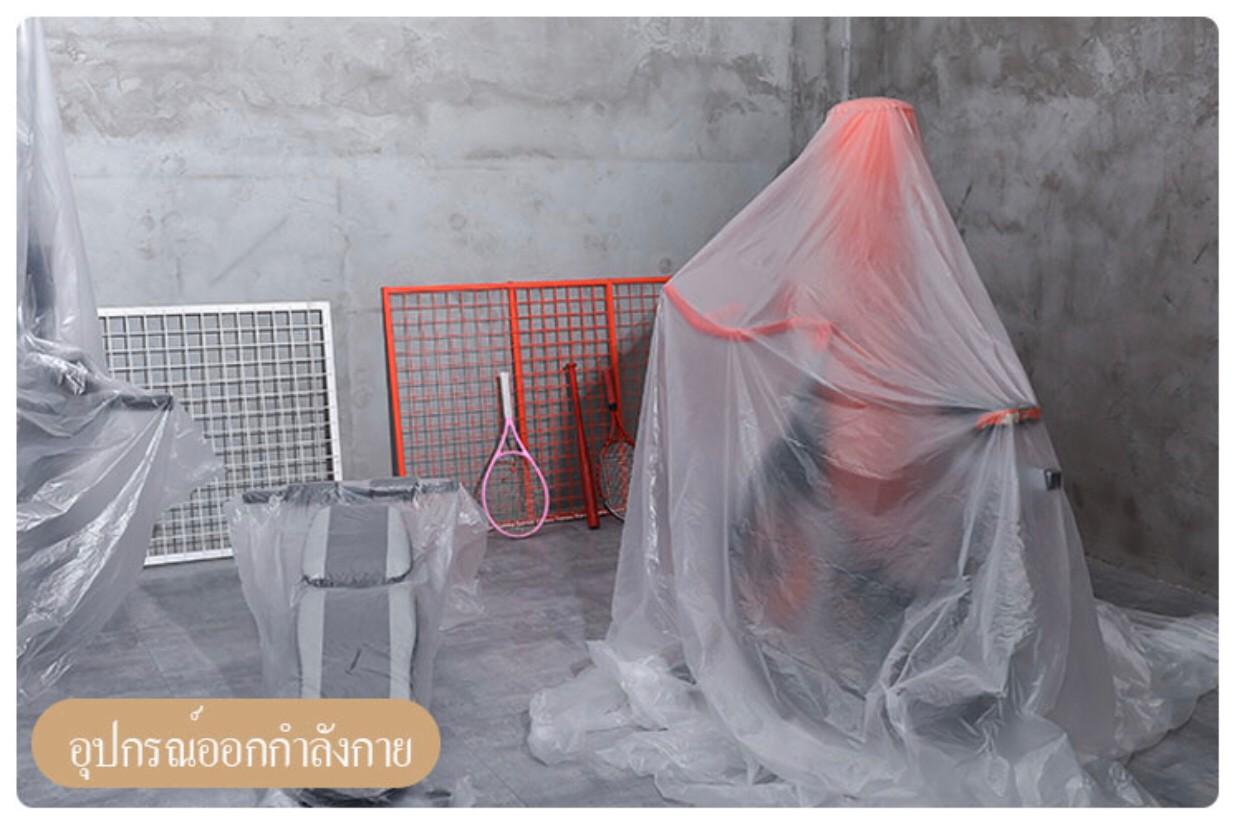 ภาพประกอบการใช้งานถุงพลาสติกขนาดใหญ่เพื่อคลุมสิ่งของ